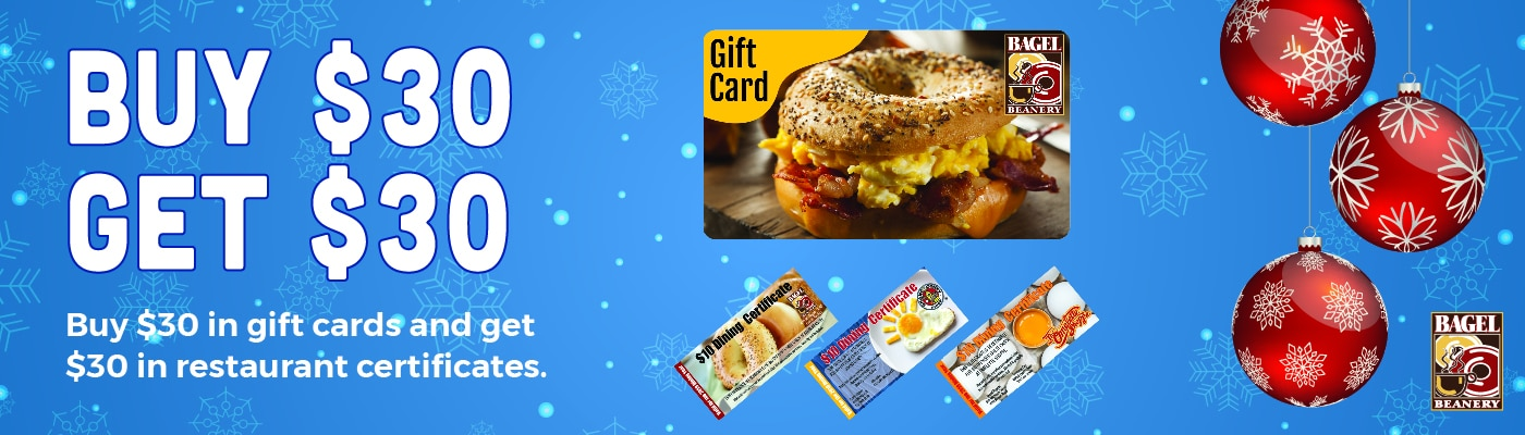 Bagel Beanery Gift Card Promotion